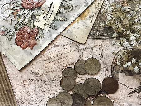 Vintage Coin And Memories, Post, Card, Coin, Book