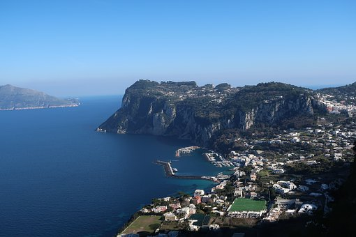 Capri, Amalfi, Italy, Mar, Costa, Mediterranean