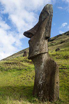 Easter, Easter Island, Travel, Moai, Chile, Sculpture