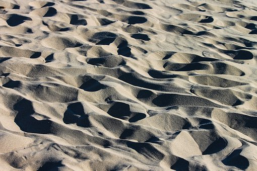 Sand, Beach, Grains Of Sand, Fine, Wavy, Structure