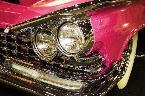 Color, 1959 Buick, Grill, Bumper, Headlights, Fins