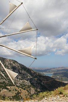 Lassithi, Crete, Mill, Plateau, Landscape, Greece