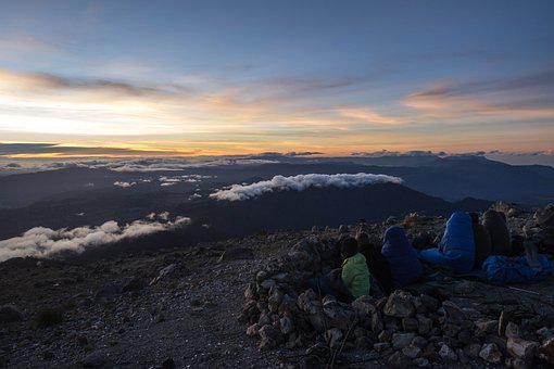 Tajumulco, Guatemala, Sunrise, Volcano, Peak, Height