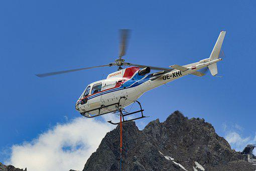 Helicopter, Rotor, Rotor Blades, Air, Flying, Flight