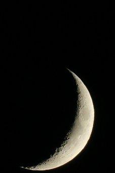 Moon, Luna, Crescent, Increasingly
