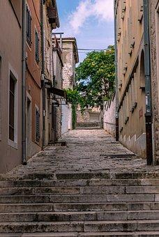 Alley, Croatia, Historic Center, Road, Istria, Streets