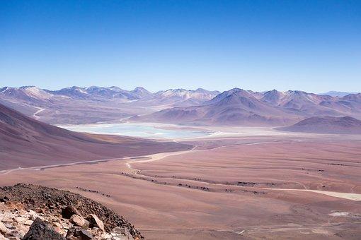 Desert, Landscape, Sand, Mountain, Nature, Chile
