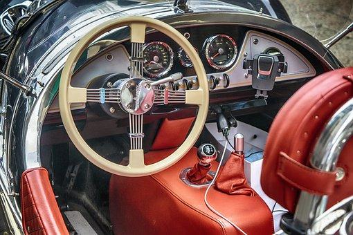 Car, Steering Wheel, Vehicle, Inside, Luxury