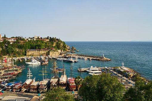 Landscape, City, Marina, Marine, Ships, Architecture
