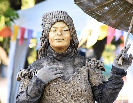 Mime, Living Statue, Art, Creativity, Artist