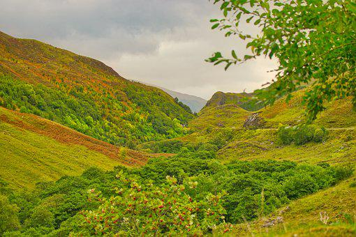 Scotland, Landscape, Mountains, Nature, Mood, Hill, Sky