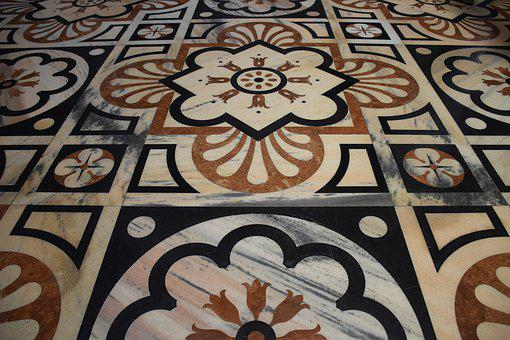 Floor, Mosaic, Casing, Nice, Color, Church, Old