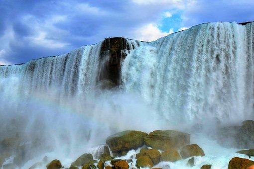 Niagara, Waterfall, Scenic, Canada, Nature, Water