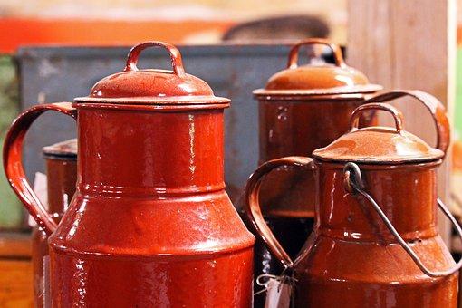 Milk Can, Junk, Pot, Flea Market, Old, Used