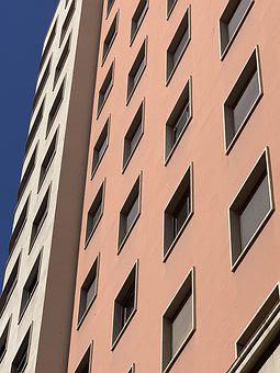Squares, Perspective, Building, Windows, Pattern