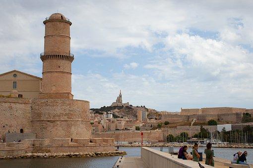 Marseilles, Port, Marseille, France, Mediterranean, Sea