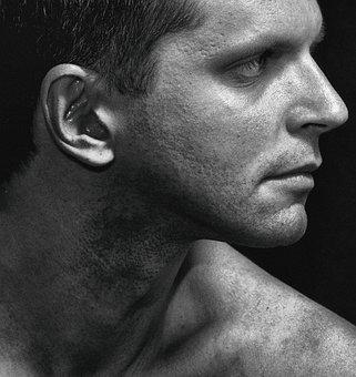 Man, Portrait Of A Man, Studio, Profile