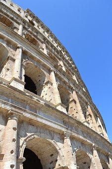 Italy, Rome, Architecture, Colosseum, Romano, Monument