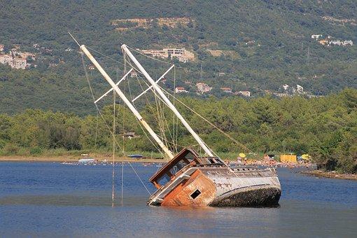 Shipwreck, Sank, Ship, Sea, Shoal, Wreck, Beach, Boat