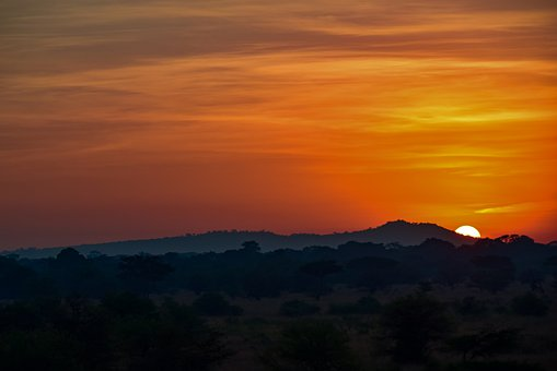 Sunrise, Africa, Serengeti, Tanzania, Sky, Sun