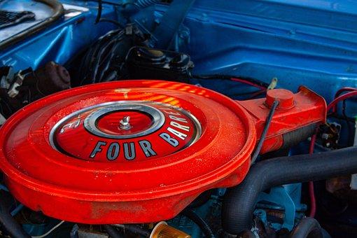 Dodge, Challenger, Four Barrel, Mopar, Sports, Engine