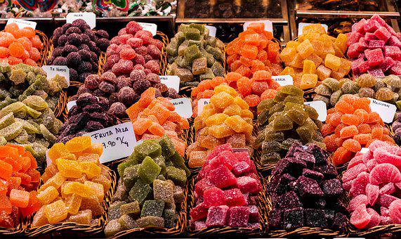 Candy, Stall, Market, Stalls, Colorful, Delicious