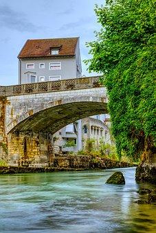 River, Bridge, Stone Arch Bridge