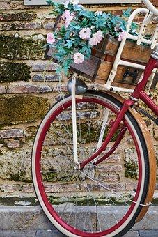 Flowers, Flowering Bike, Decor, Street, Ornament