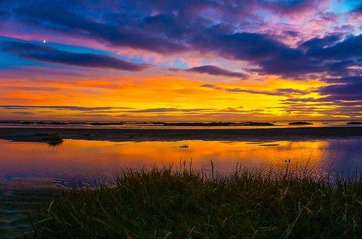 Saint Anne's, Beach, United Kingdom, Sunset, Landscape