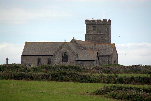 Church, Tintagel, Cornwall, Building, England, Uk