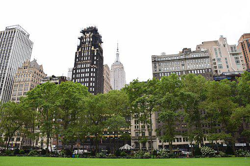 Bryant Park, In New York City, Usa, Skyscraper, Park