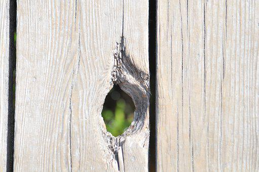 Hole, Wood Planks, Old, Wooden, Texture, Surface