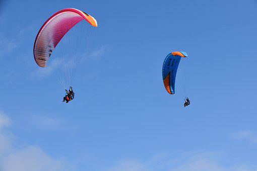 Paragliders, Aircraft, Free Flight, Para-bis-place, Duo