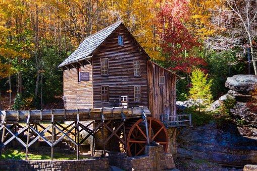 Grist Mill, Babcock Wv, State Park, Scenic, Landscape