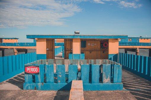Beach, Platform, Danger, Fishing, Holidays, Summer