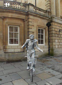 Statue, Bicycle, Bike, Cyclist, Outdoor, People, Artist