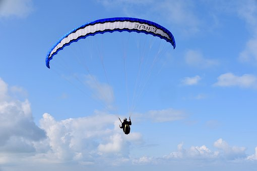 Paragliding, Paraglider, Aircraft, Free Flight, Wind
