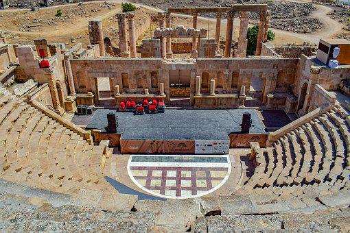 Ancient Theatre, Architecture, Ruins, Ancient, History