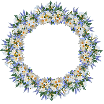 Frame, Border, Flowers, Lilies, Veronica, Decoration
