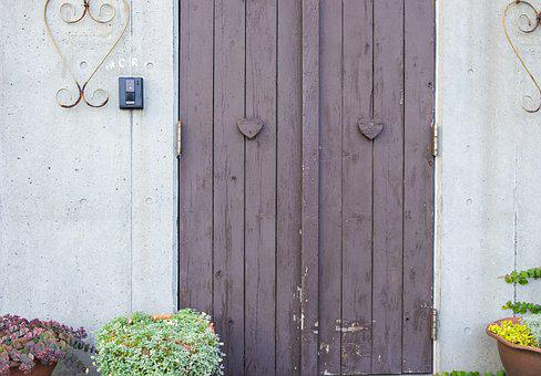 Door, White, Purple, Magenta, Chimney, Fireplace, Clean
