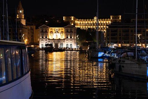 Marseille, Port, France, Mediterranean, Sea, Water