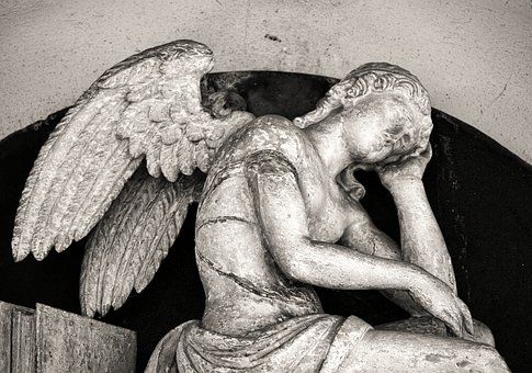 Mourning, Cemetery, Angel, Sculpture, Statue, Death