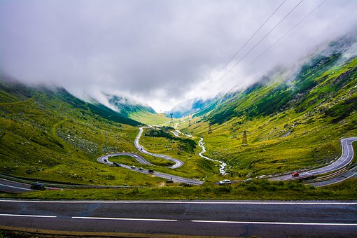 Road, Landscape, Mountain, Sky, Nature, Sea, Mountains