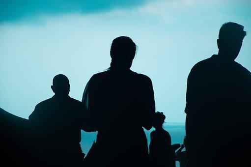Spain, Silhouette, Shadow, Quarry, Sky, Man, Trip