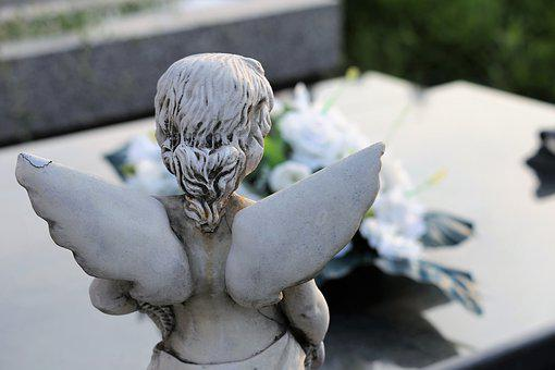 Stone Angel, Wings, Figure, Statue, Sculpture