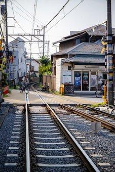 Railway, Japan, Town, Train, Transportation, Station