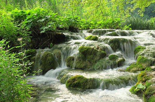 Waterfall, Plitvice Lakes, Croatia, Unesco