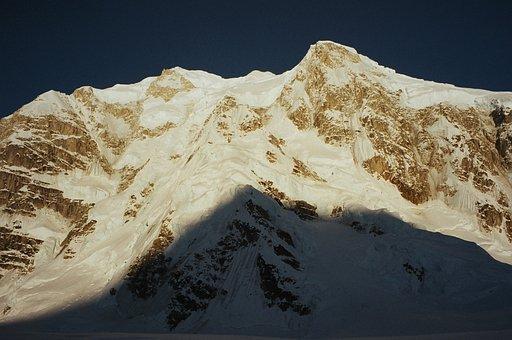 Mountain, Shadow, Alaska, Denali National Park