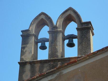 Bells, Steeple, Bell Tower, Mediterranean, Church, Sky