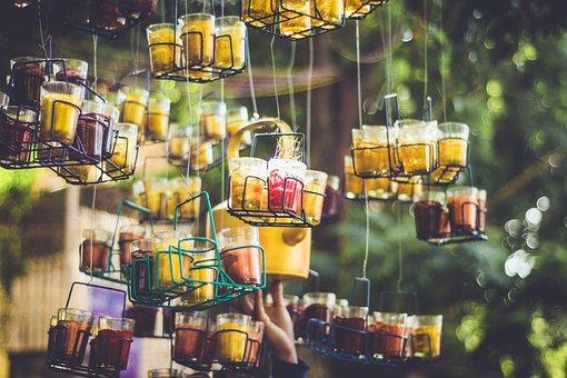 Art, Glass, Tea, Bokeh, Outdoors, Beverages, Glasses